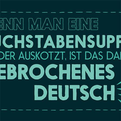 Magnet Gebrochenes Deutsch - magnetisierende Geschenke in Frankfurt am Main
